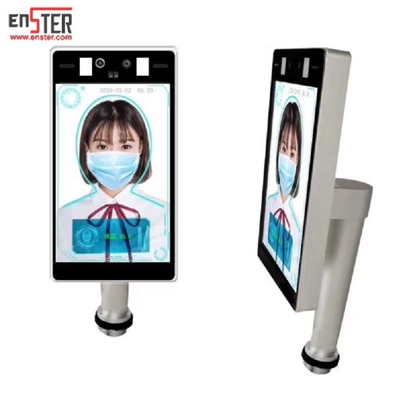 Face recognize+temperature detection  8inch smart camera